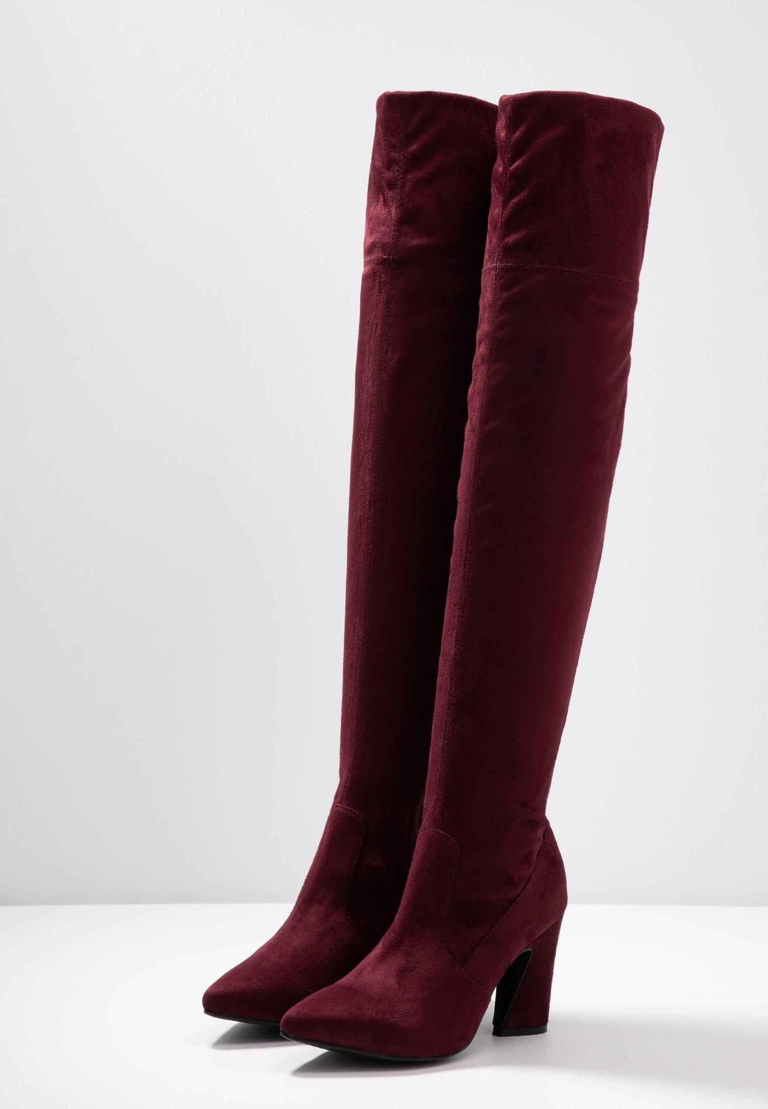 Bianco BIACARTER BOOT - Cuissardes - burgundy burgundy