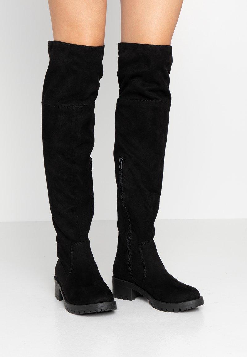 Bianco - BIACLAIRE BOOT - Stivali sopra il ginocchio - black