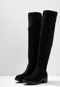 Bianco - BIACLAIRE BOOT - Stivali sopra il ginocchio - black - 4