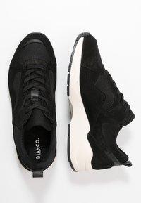 Bianco - SNEAKERS MESH UND WILDLEDER - Sneakersy niskie - black - 3