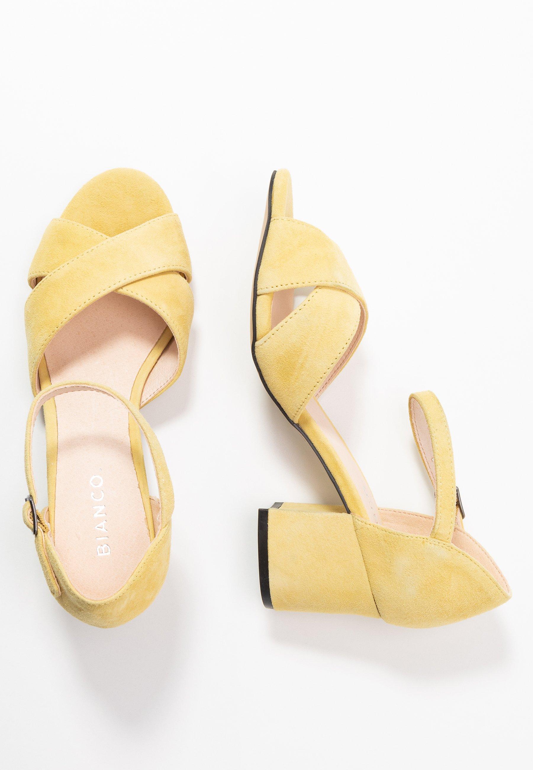 Bianco Biacate Cross - Sandaler Yellow