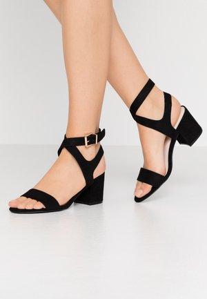 BIACATE WRAP ANKLE - Sandaalit nilkkaremmillä - black