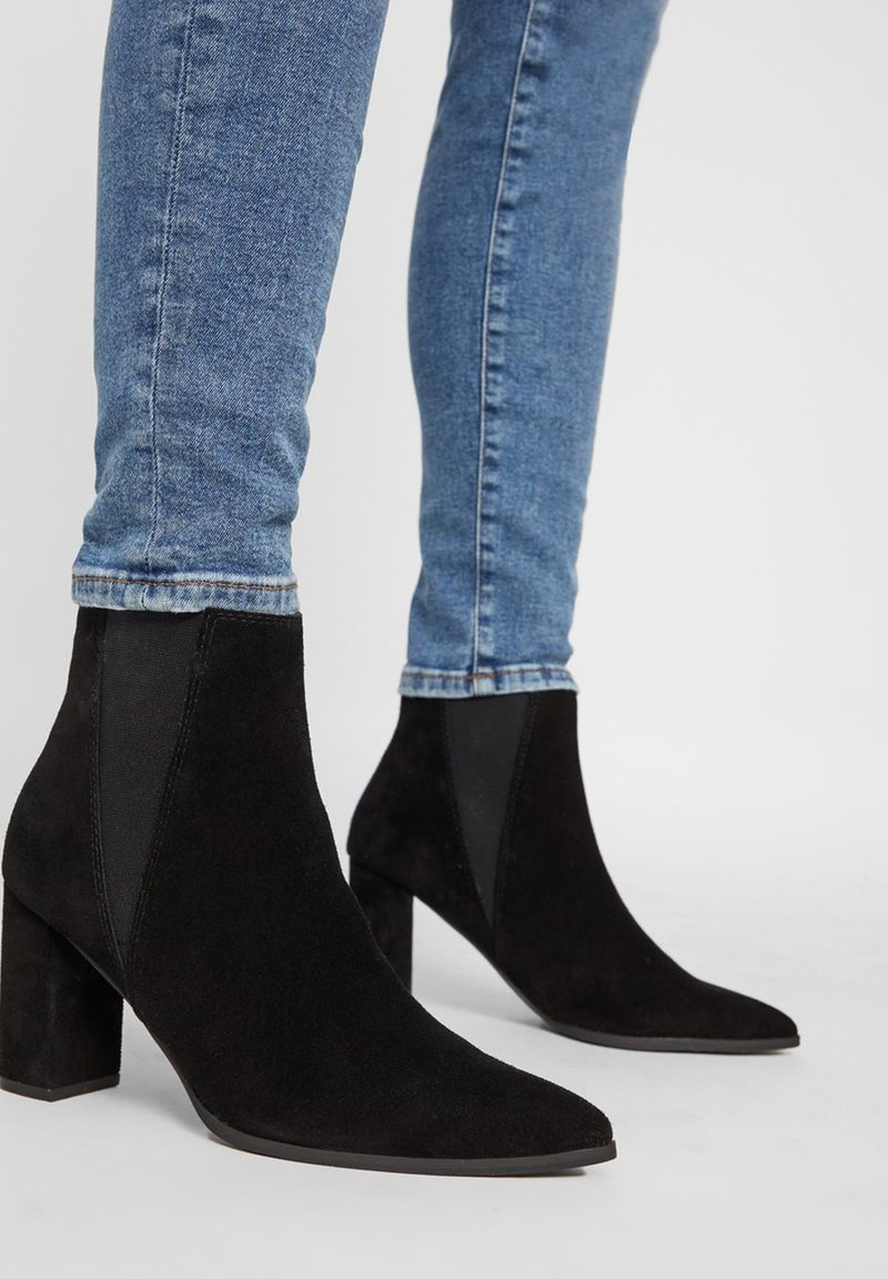 Bianco - High heeled ankle boots - black