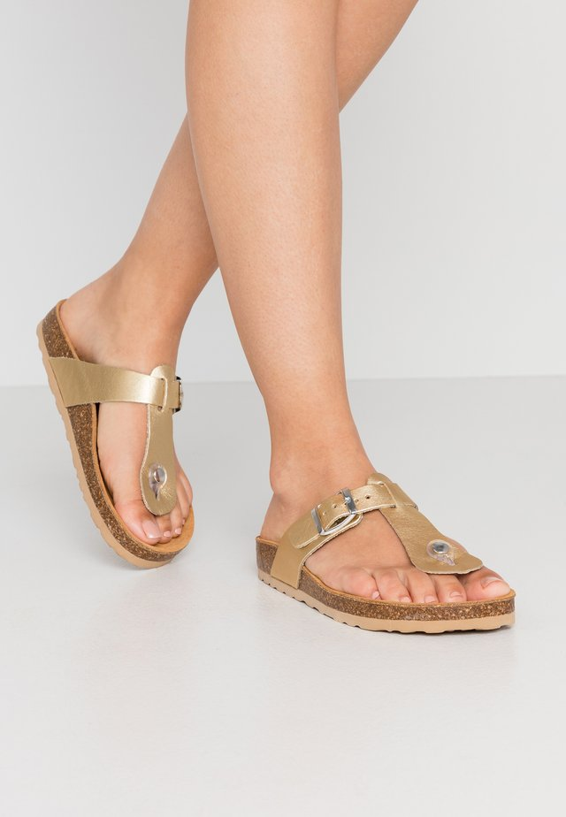 BIABEATRICIA TOE T-BAR - T-bar sandals - gold