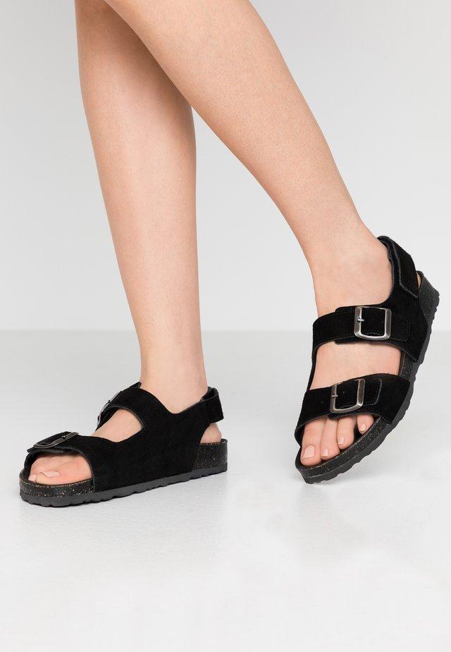 BIABETRICIA - Sandaalit nilkkaremmillä - black