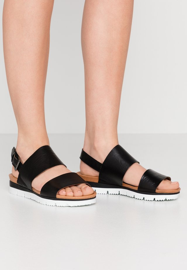 BIADEDRA - Sandaalit nilkkaremmillä - black