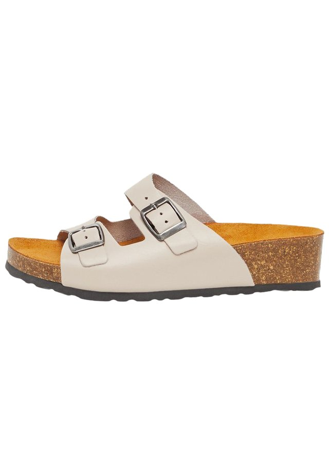 BIABETTY WEDGE BUCKLE - Kapcie - brown