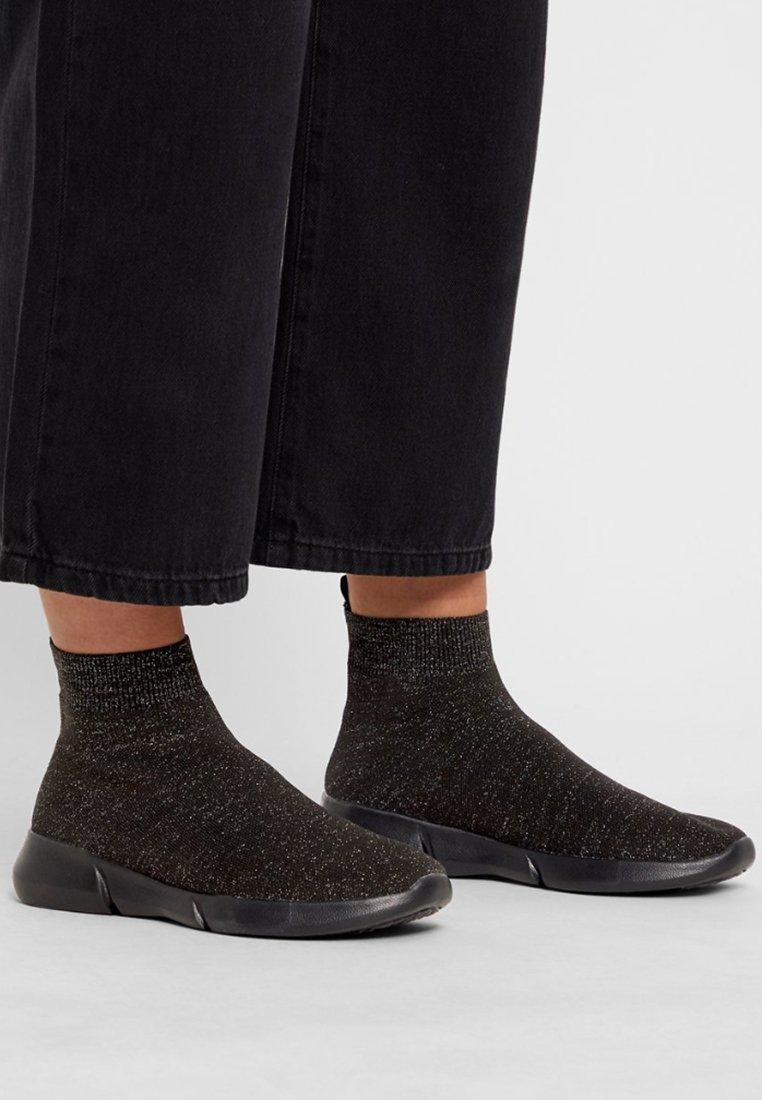 Bianco - BIACASEY  - Höga sneakers - black