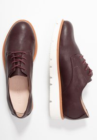 Bianco - BIABITA DERBY LACED UP SHOE - Veterschoenen - burgundy - 3
