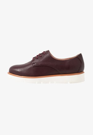 BIABITA DERBY LACED UP SHOE - Oksfordki - burgundy
