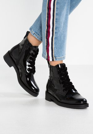 LACED UP - Ankle boots - black