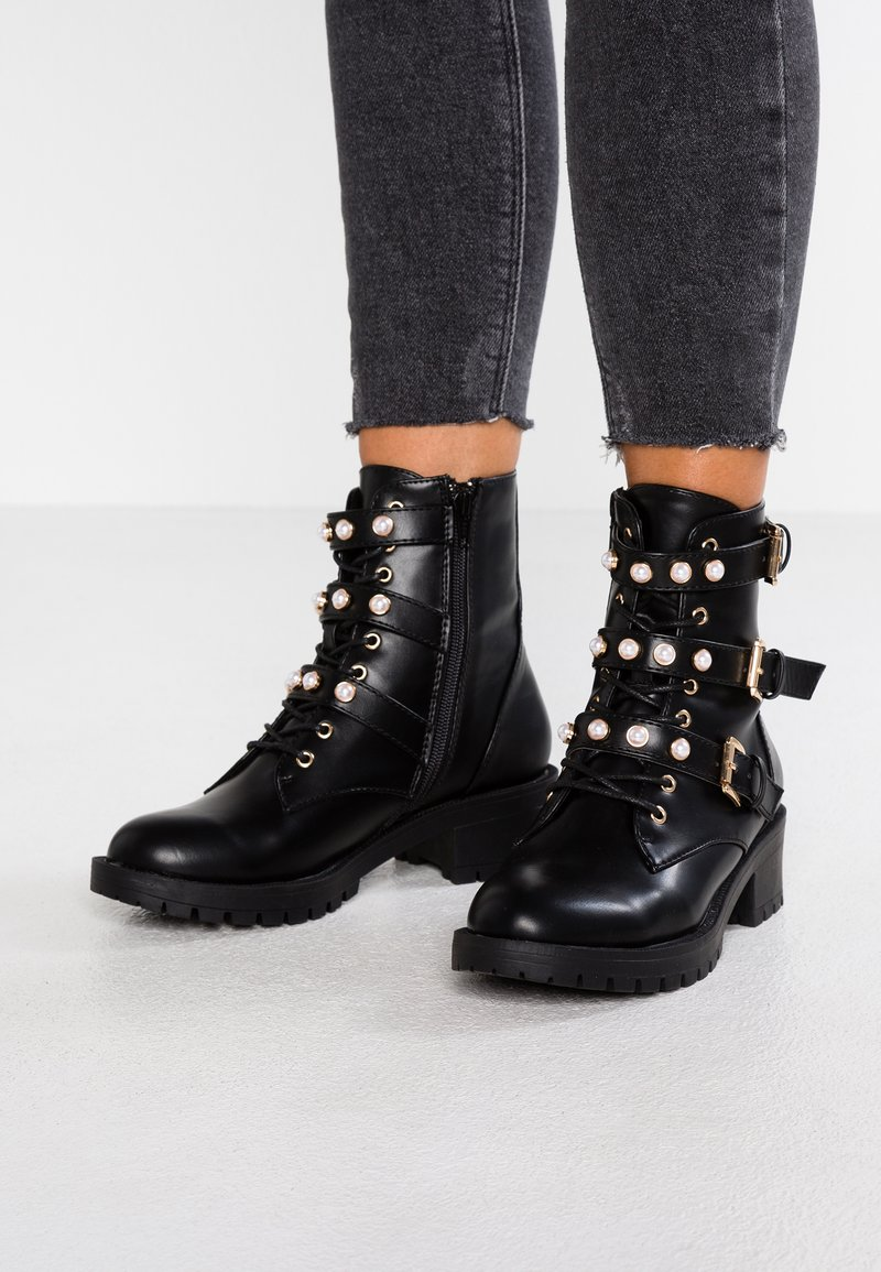 Bianco - Bottines à lacets - black