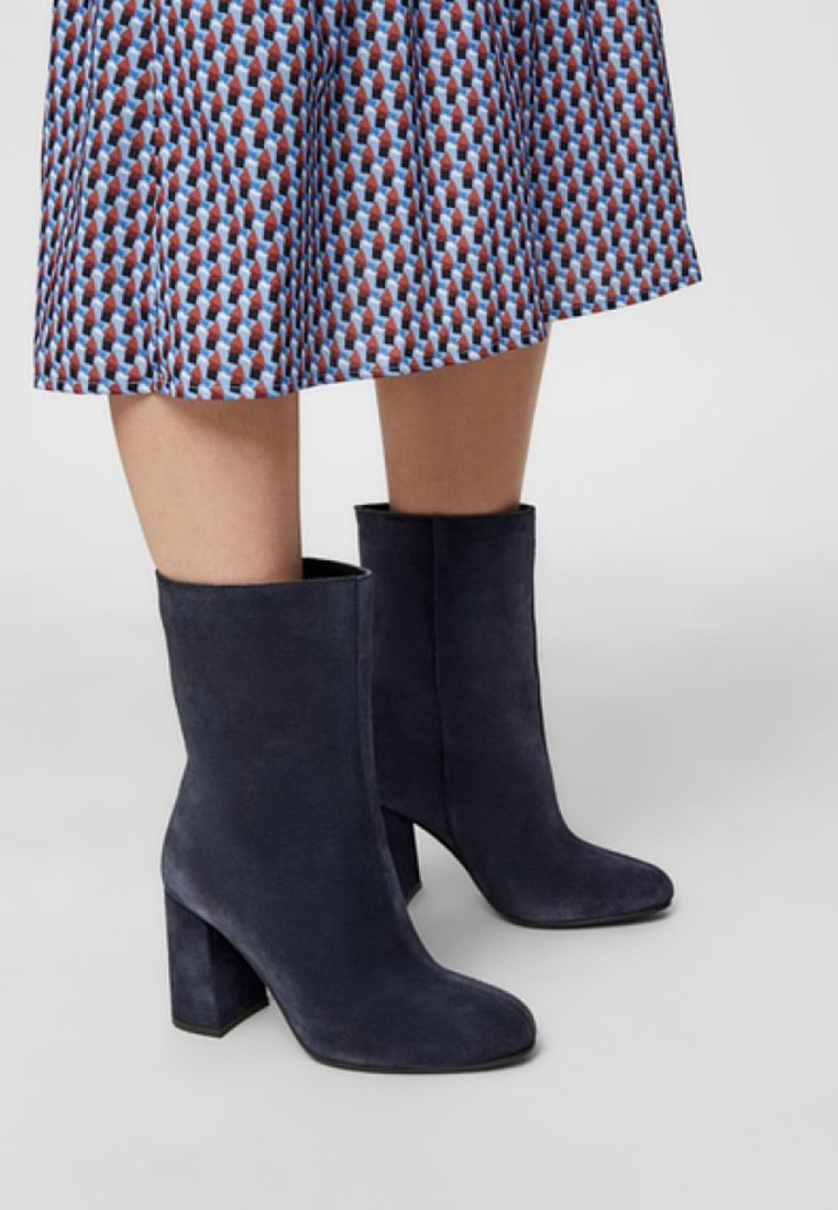 Bianco BFCANDICE TUBE BOOT - Bottines à talons hauts navy blue