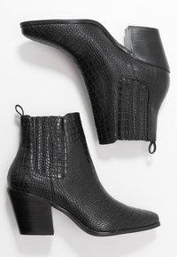 Bianco - BIACLEMETIS WESTERN CHELSEA - Boots à talons - black - 3