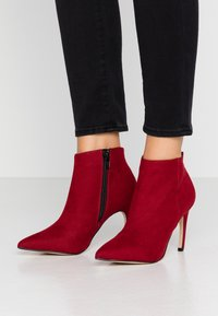 Bianco - BIACHERRY CURVED - High heeled ankle boots - winered - 0
