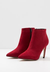 Bianco - BIACHERRY CURVED - High heeled ankle boots - winered - 4