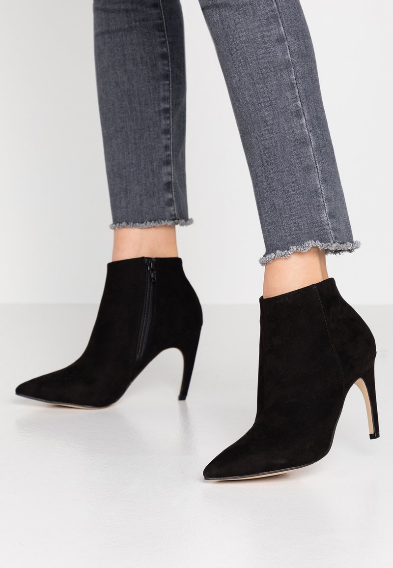 Bianco - BIACHERRY CURVED - High heeled ankle boots - black