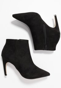 Bianco - BIACHERRY CURVED - High heeled ankle boots - black - 3