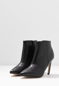 Bianco - BIACHERRY CURVED - High heeled ankle boots - black - 4