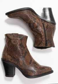 Bianco - BIADIRA SNAKE WESTERN BOOT - Ankle boots - dark brown - 4
