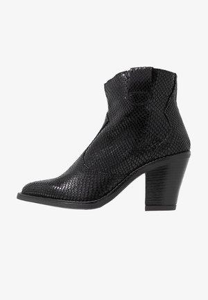 BIADIRA SNAKE WESTERN BOOT - Ankelboots - black