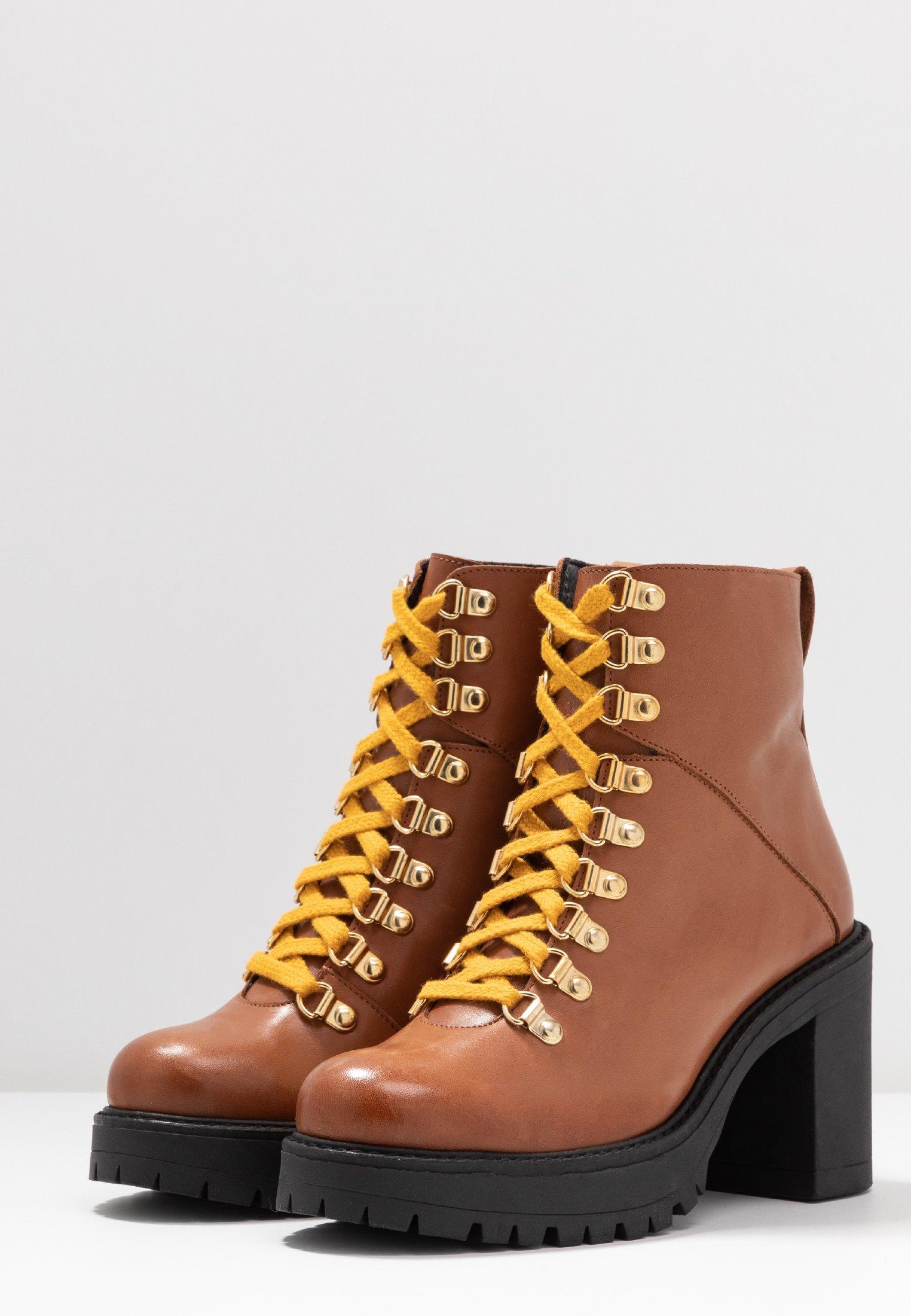 Bianco Biacurtis Boot - Enkellaarsjes Met Hoge Hak Cognac kaUbyxQf
