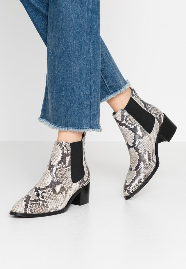 BIACAROL PRINT LEATHER CHELSEA - Ankle boots - grey