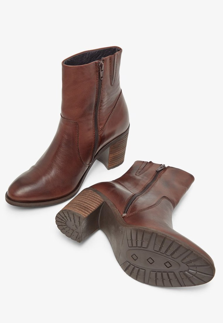 Bianco BIACOFIA LEATHER BOOT - Ankle boot - darkbrown