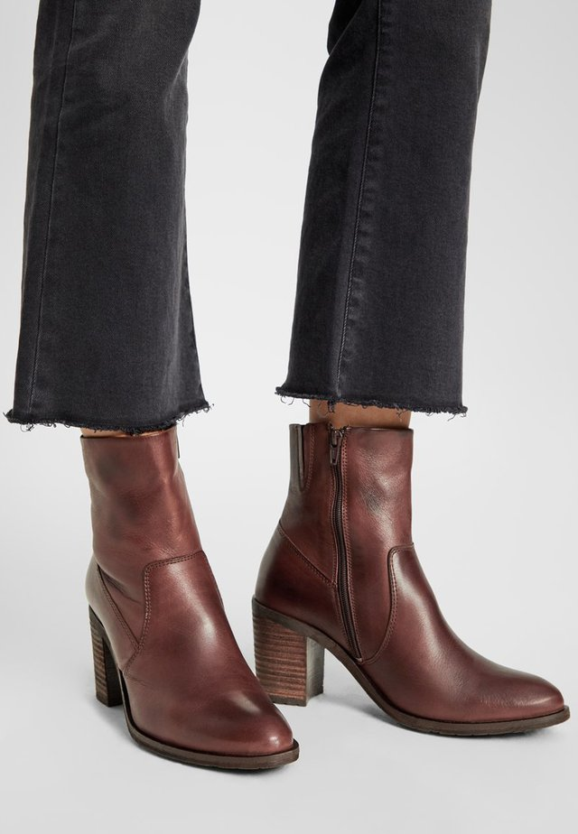 BIACOFIA LEATHER BOOT - Ankle boot - darkbrown