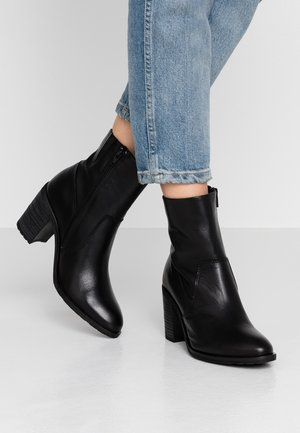 BIACOFIA LEATHER BOOT - Korte laarzen - black