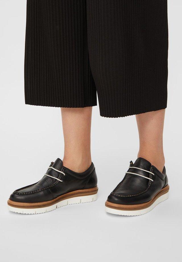 BIANCO MOKASSINS LEDER - Casual lace-ups - black