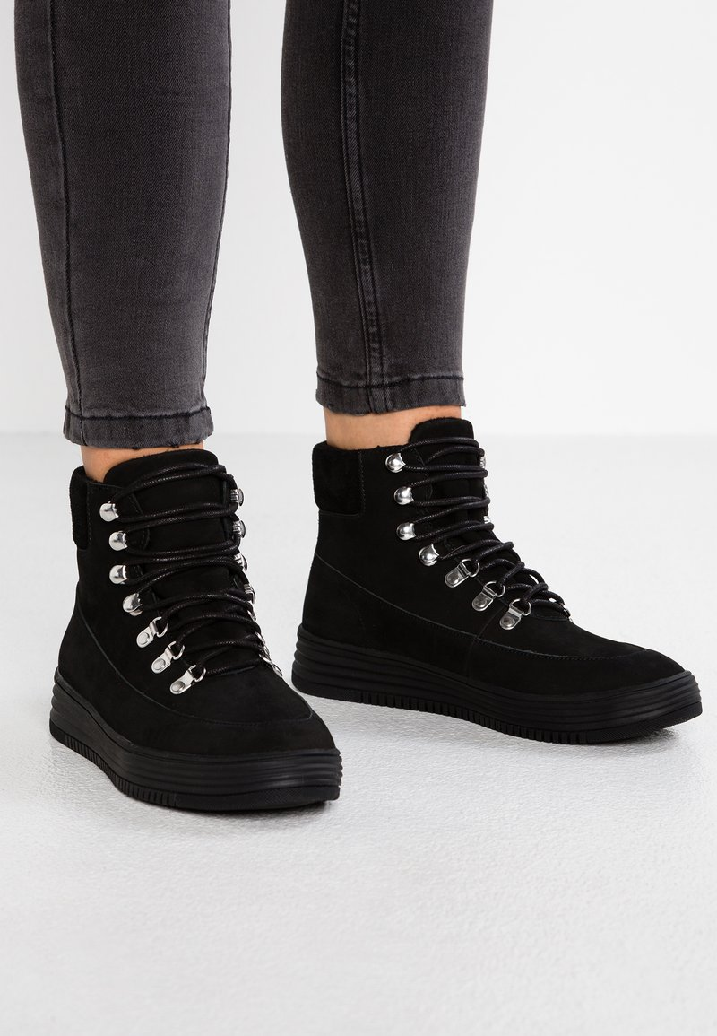 Bianco - HIKING - Ankle boots - black