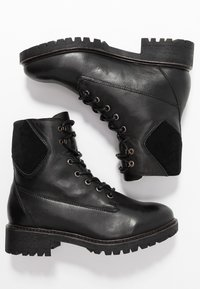Bianco - BIACHERYL WARM BOOT - Lace-up ankle boots - black - 3