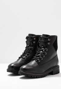 Bianco - BIACHERYL WARM BOOT - Lace-up ankle boots - black - 4