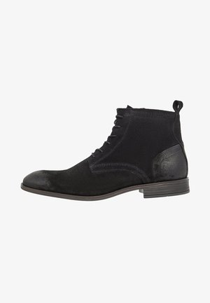 LACED UP BOOT - Veterboots - black