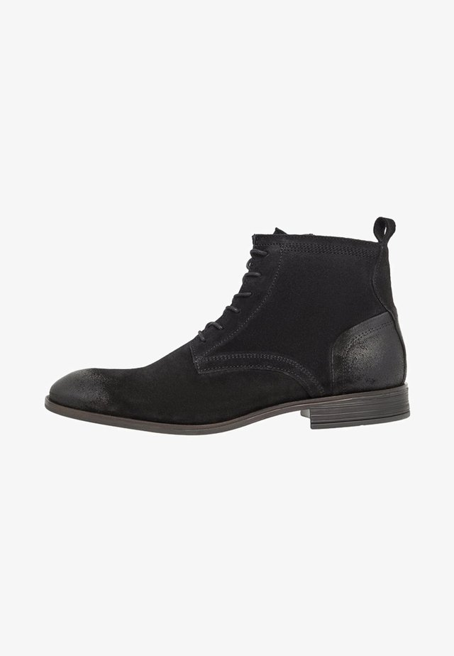 LACED UP BOOT - Bottines à lacets - black