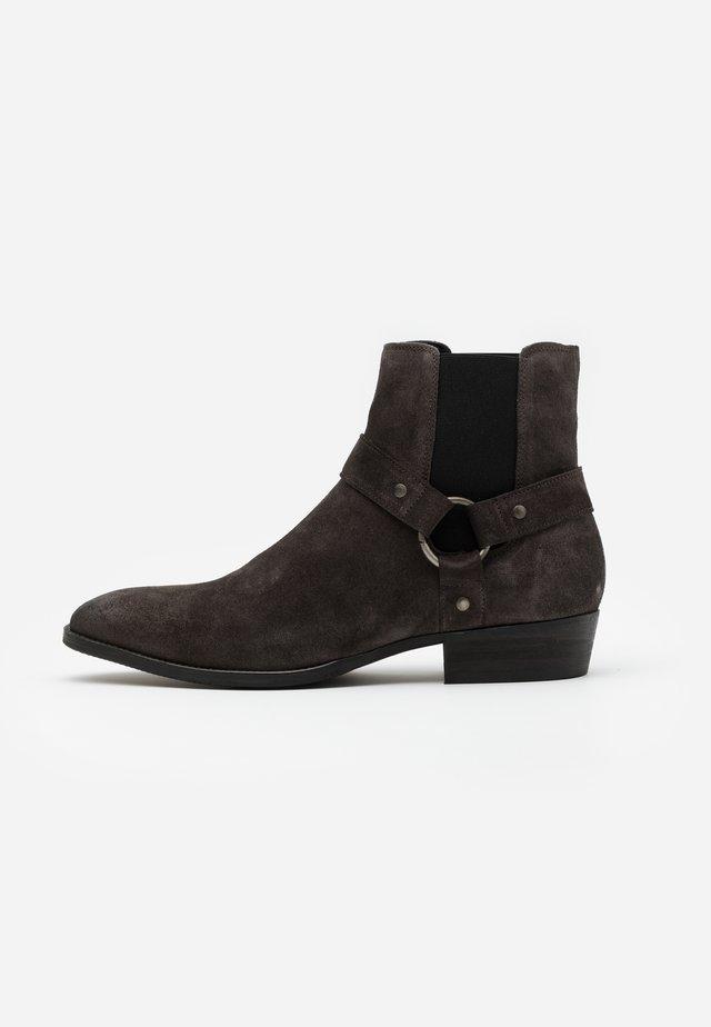 BIABEACK WESTERN - Cowboystøvletter - dark grey