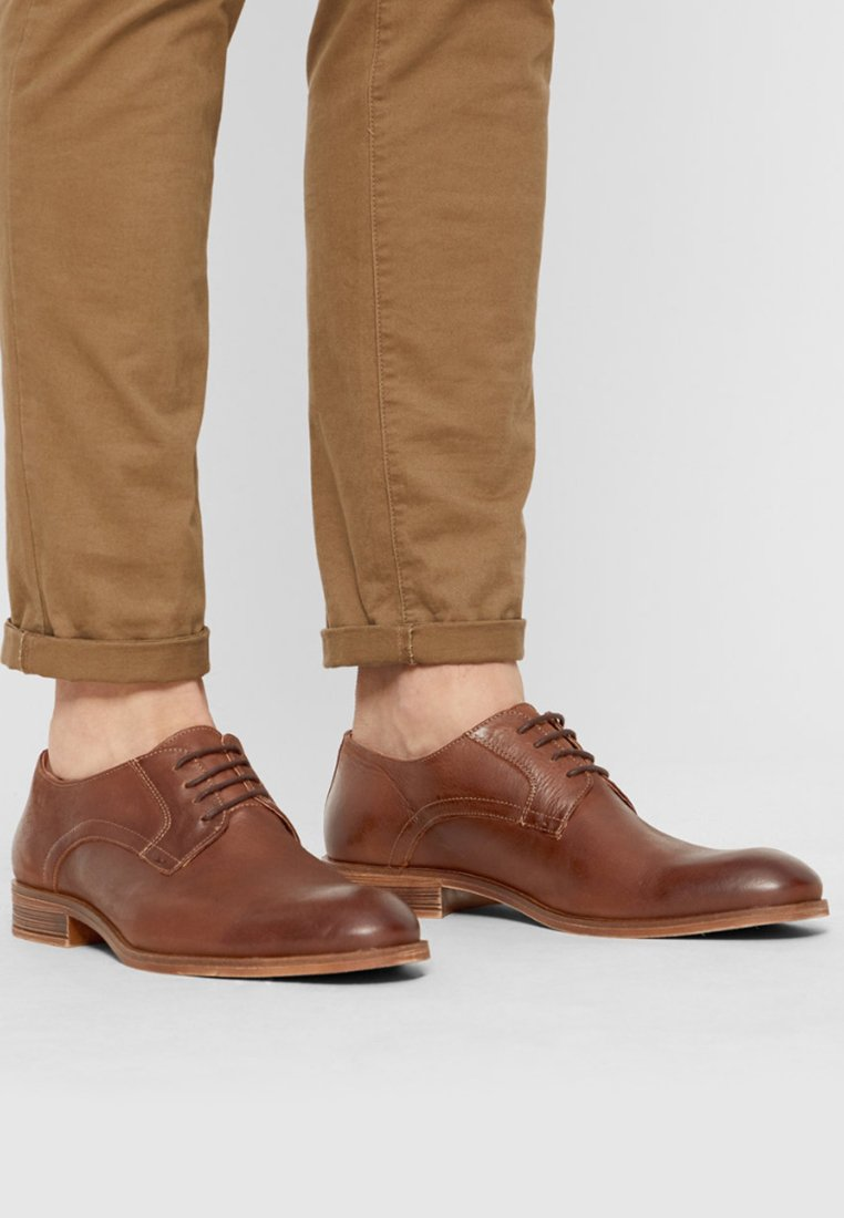 Bianco - DERBY - Smart lace-ups - cognac
