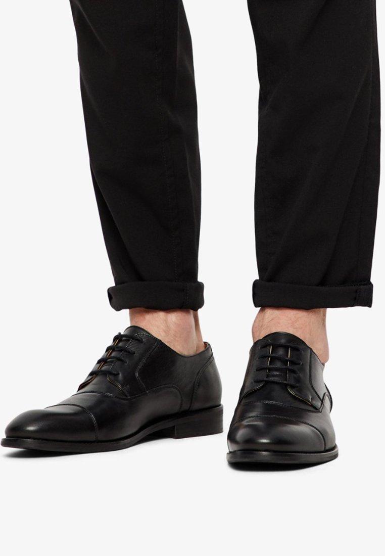 Bianco - HERREN  - Šněrovací boty - black
