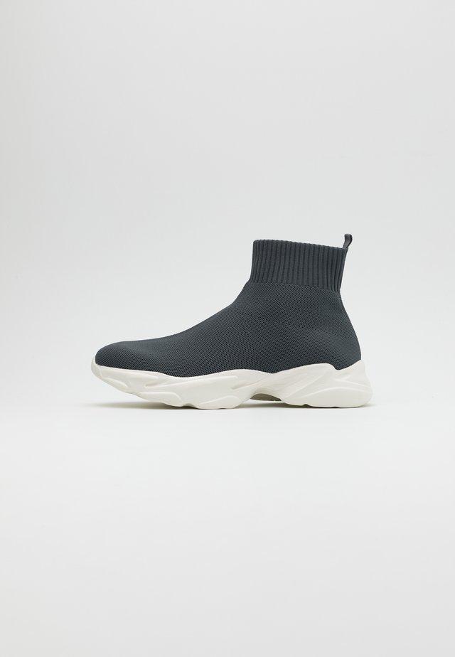 BIACASE SOCK - Sneakersy wysokie - dark grey