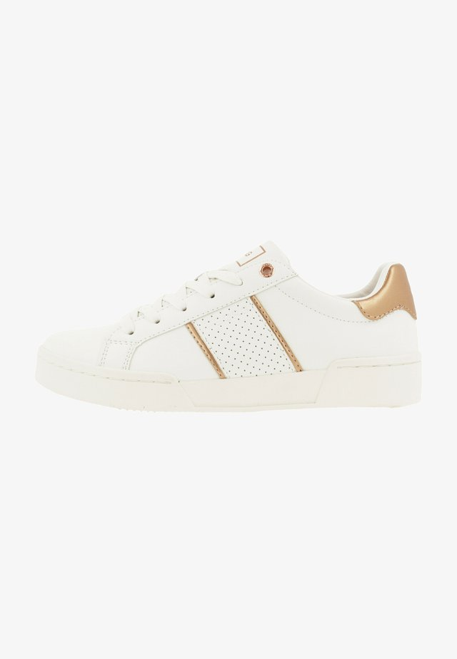 CLS  - Sneakers laag - white/gold