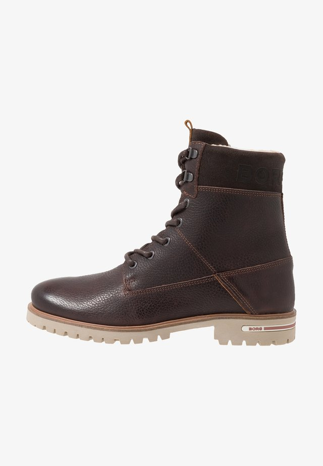 KENN - Lace-up ankle boots - dark brown
