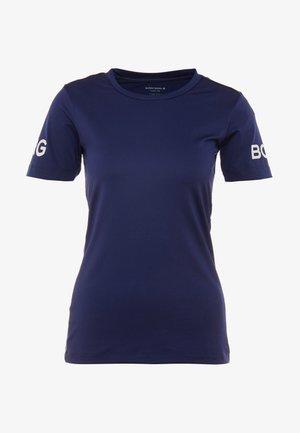 TEE CARLA - T-shirt z nadrukiem - peacoat