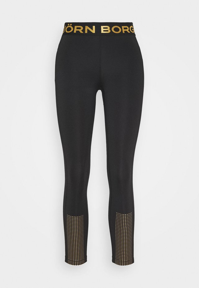 MEDAL - Tights - black/gold