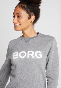 Björn Borg - CREW SPORT - Mikina - light grey melange glitter - 4