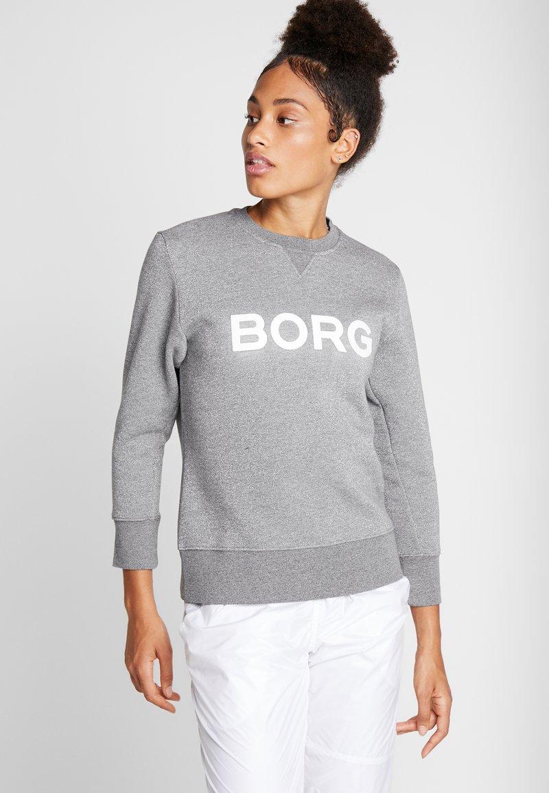 Björn Borg - CREW SPORT - Mikina - light grey melange glitter