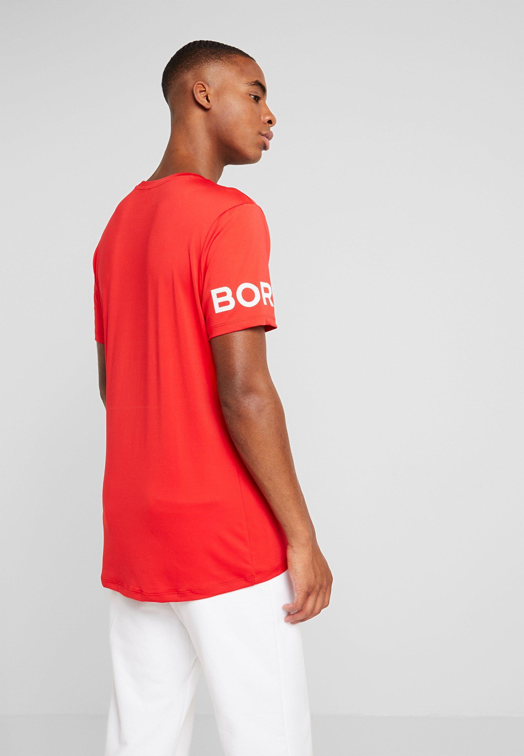 Björn Borg TEE - T-shirt med print - chinese red