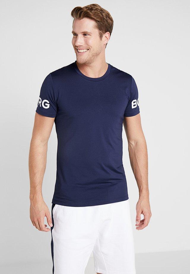 TEE - T-shirt med print - peacoat