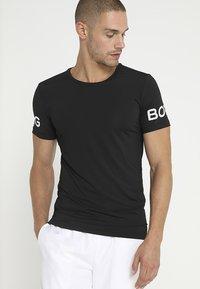 Björn Borg - TEE - T-shirt med print - black beauty - 0