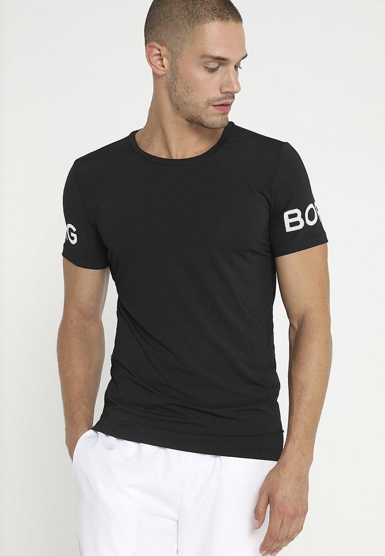 Björn Borg - TEE - T-shirt med print - black beauty